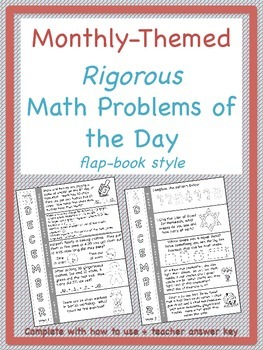 December Math Problem of the Day for Rigorous Instruction
