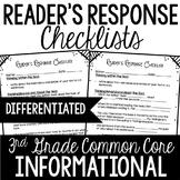 Reader's Response Letters {3rd Grade Common Core: Informat