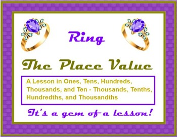 Ring The PLACE VALUE