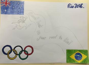 Rio 2016 Olympic Artwork Step by Step