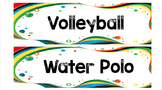 Rio Olympics 2016 Word Wall and Flash Cards