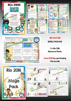 Rio – Summer Olympic Games – 2016 – BUNDLE – 3 for 2 – BON
