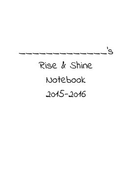 Rise & Shine Notebook Cover