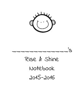 Rise and Shine Notebook Cover with Boy
