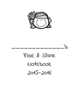 Rise and Shine Notebook Cover with Girl