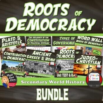 Roots of Democracy UNIT BUNDLE (Secondary World History)