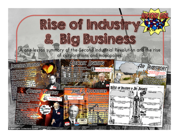 Rise of Industry & Big Business PowerPoint and Student Inf