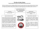 Rise of Labor Unions Graphic Organizer