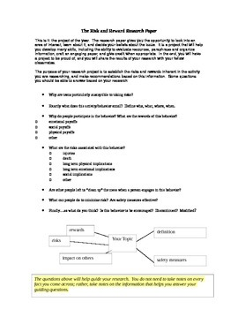 Risk and Reward Research Paper