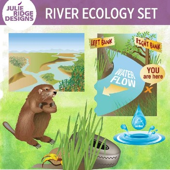 River Ecology Clip Art Set