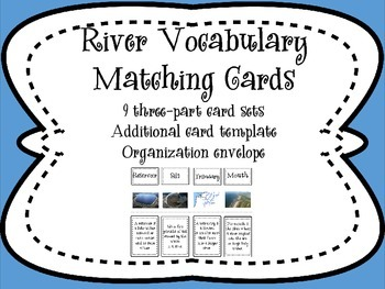River Vocabulary Sort and Match Cards
