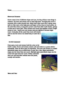 Rivers and Streams - supplemental information grade 3 module 4