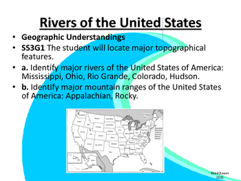 Rivers of the United States:  GPS SS3G1