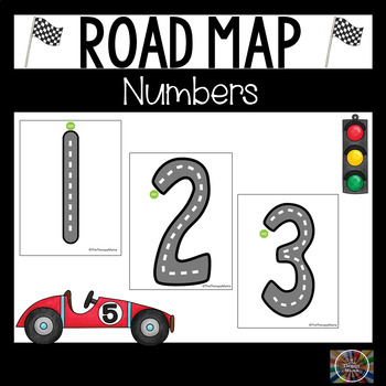 Road Map Tracing Cards for Numbers 1 through 20