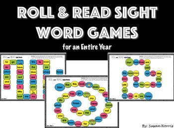 Roll & Read Sight Word Games