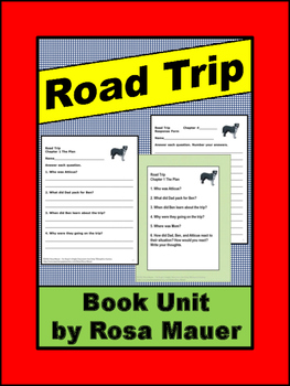 Road Trip Jim and Gary Paulsen Novel Study