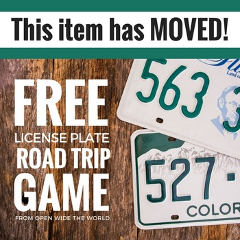Road Trip License Plate Tracker - U.S. Geography