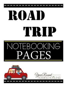 Road Trip Notebooking Pages