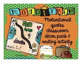 Road Trip Quote Posters & Writing Activity