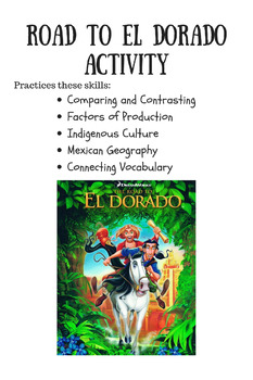 Road to El Dorado Activity