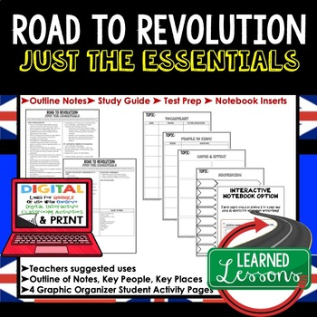 Road to Revolution Outline Notes JUST THE ESSENTIALS (Amer