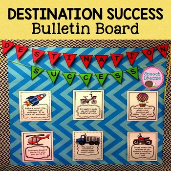 Road to Success Bulletin Board Positive Quotes for Charact