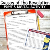 Causes of the American Revolution Nonfiction Packet and Activity