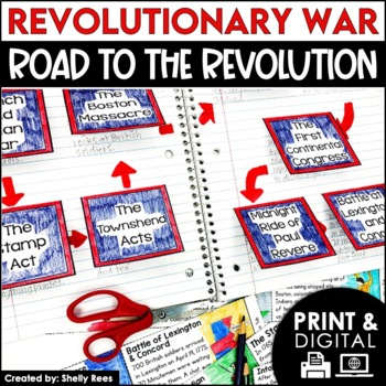 Revolutionary War - Events Leading to the War - Interactive Notebook Unit