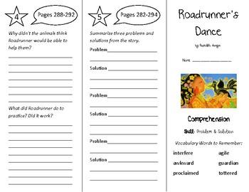 Roadrunner's Dance Trifold - Treasures 4th Grade Unit 3 We