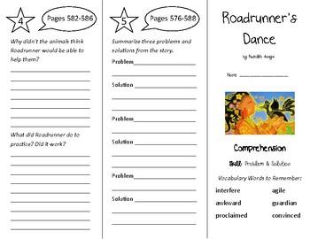 Roadrunner's Dance Trifold - Treasures 4th Grade Unit 5 We