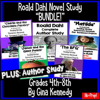 """Roald Dahl """"Bundle"""", Four Complete Novel Studies, Plus: Au"""