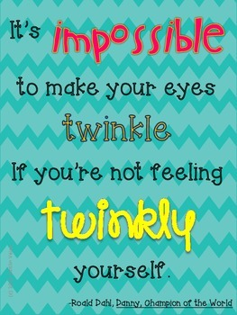 """Roald Dahl Quote """"Impossible"""" Poster FREEBIE"""