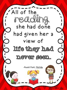 """Roald Dahl Quote """"Reading"""" Poster"""