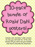 Roald Dahl Quotes 10 Poster BUNDLE!