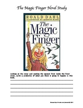 Roald Dahl The Magic Finger Novel Study