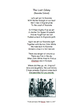 Roanoke Island (The Lost Colony) Song