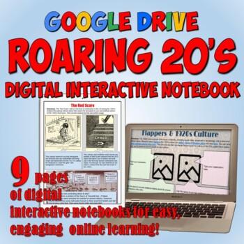 Roaring 20's Google Drive Interactive Notebook