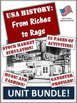 Roaring 20's and Great Depression Bundle