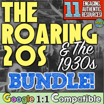 Roaring 20s, 1930s, Great Depression Bundle! 8 Fun Resourc