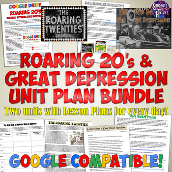 Complete Roaring 20's and Great Depression Unit Bundle