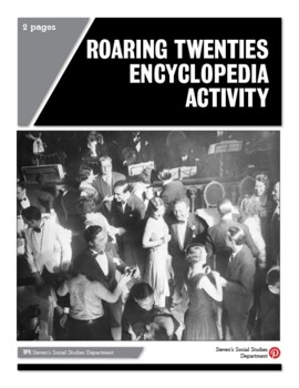 Roaring Twenties Encyclopedia Activity