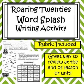 Roaring Twenties Writing Activity