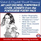Robert Browning & Elizabeth Barrett Browning Poetry Pack