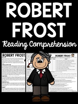 Robert Frost Biography Reading Comprehension Worksheet, Poetry