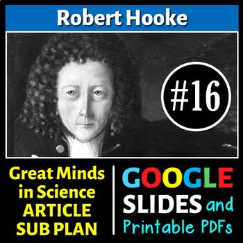 Robert Hooke - Great Minds in Science Article #16 - Scienc