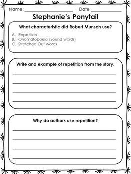 Robert Munsch Worksheets
