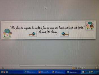 Robert Persig Quote Banner