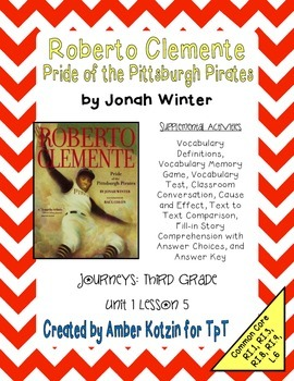 Roberto Clemente Supplemental Activities 3rd Grade Journey