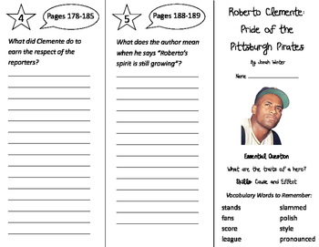 Roberto Clemente Trifold - Journeys 3rd Gr Unit 1 Wk 5 (20