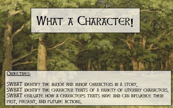 Robin Hood: Character Traits and their Actions